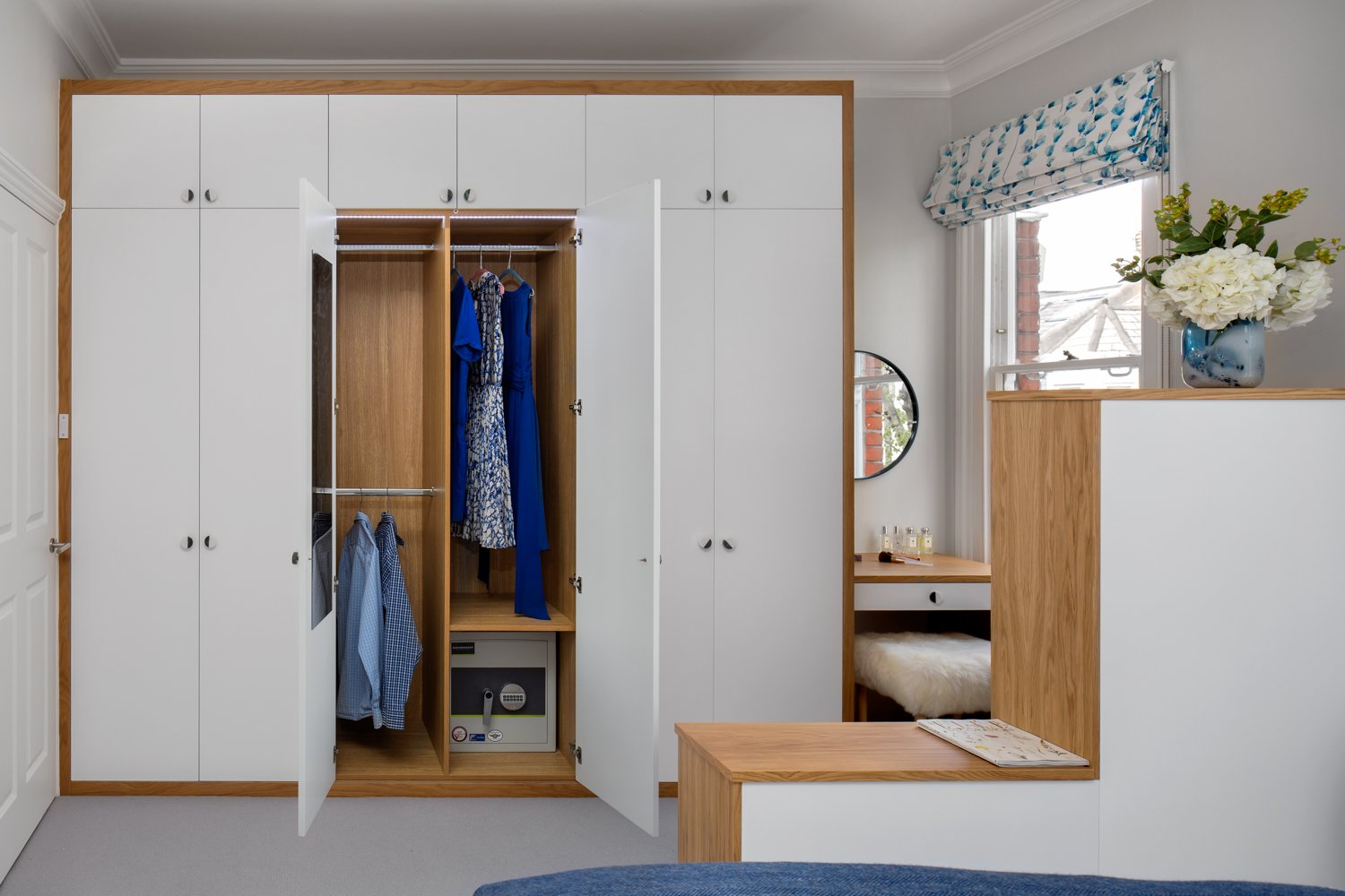 white oak wardrobe