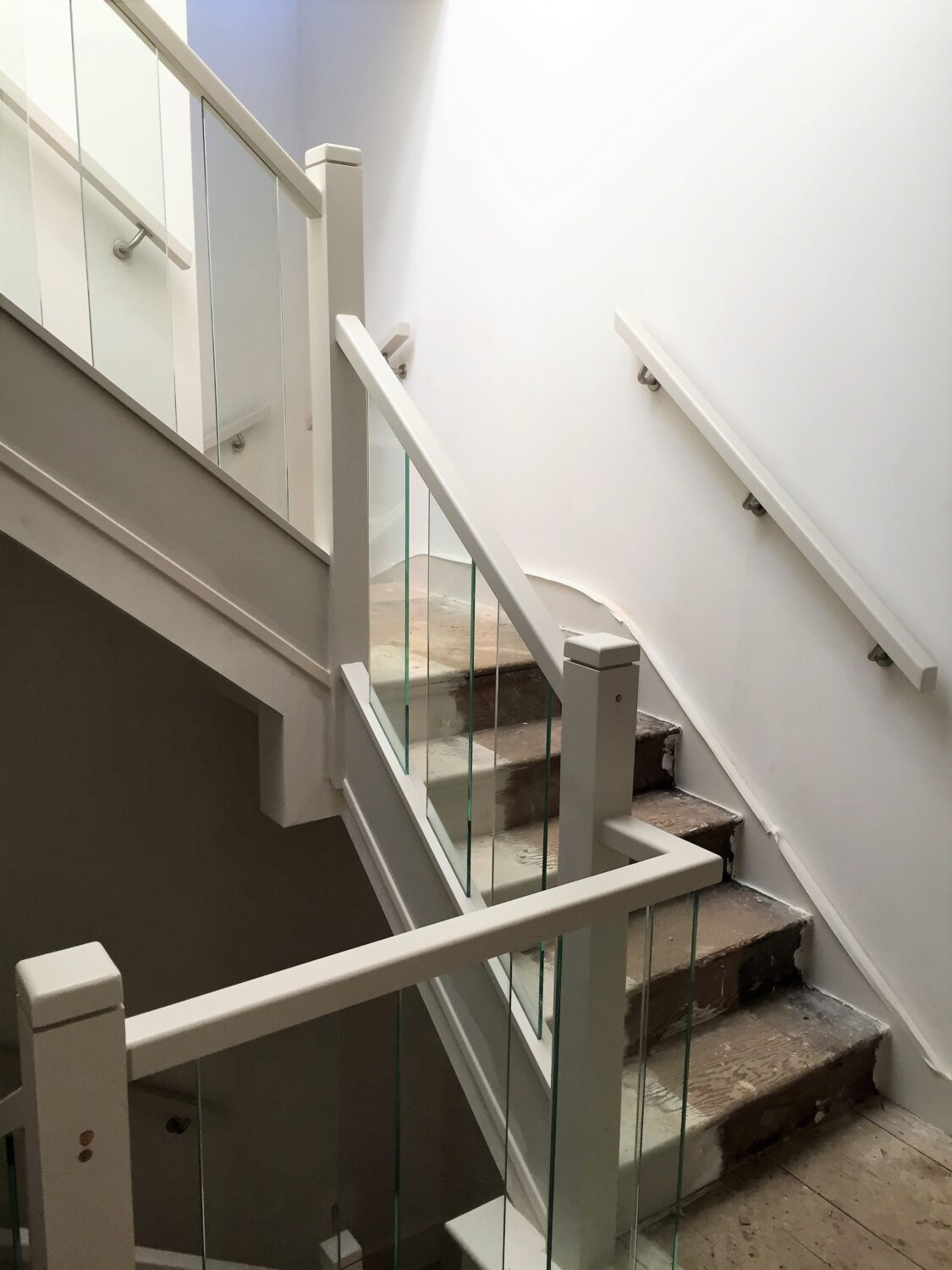 Glass balustrades & Contemporary Staircase, South London