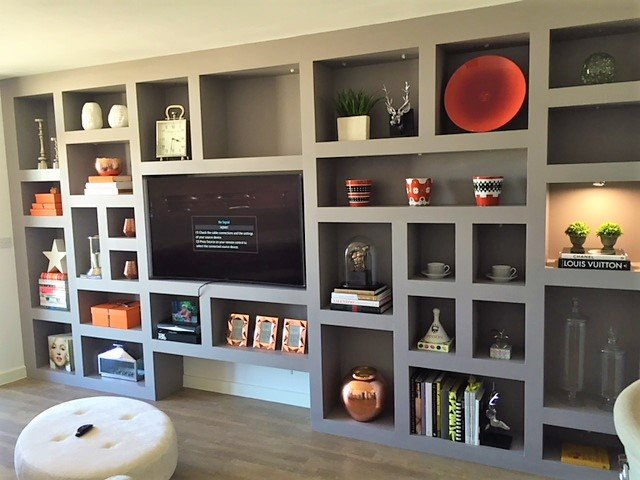 Contemporary Lounge Shelving, South London