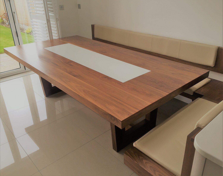Bespoke Dining Table, Oak & Granite