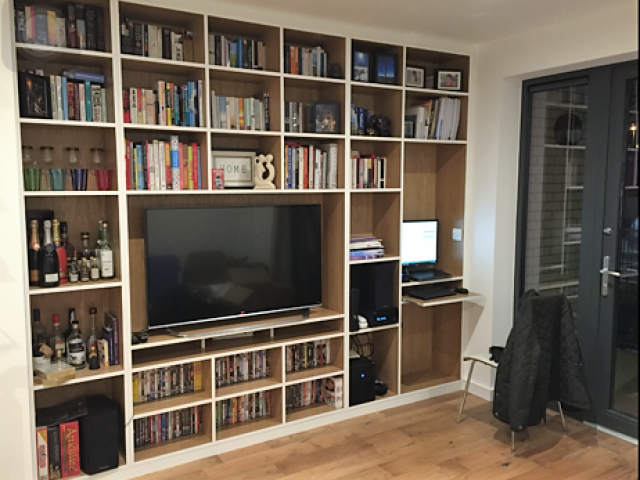 Custom Made Media Unit & Shelving, South London
