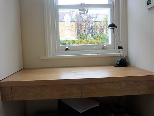 Bespoke Desk, Custom Made Desk, Oak, Home Office